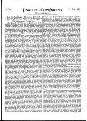 Provinzial-Correspondenz vom 12.05.1881