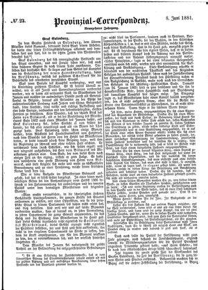 Provinzial-Correspondenz vom 08.06.1881