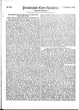 Provinzial-Correspondenz vom 07.12.1881