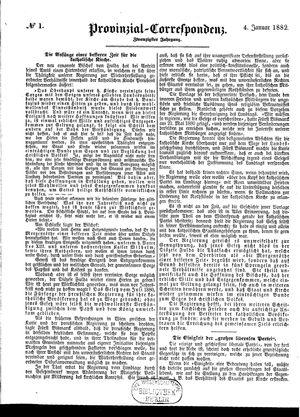 Provinzial-Correspondenz vom 04.01.1882