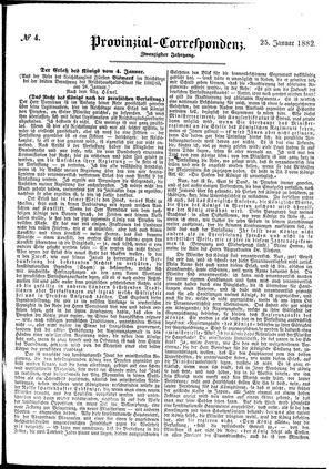Provinzial-Correspondenz on Jan 25, 1882