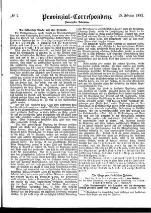 Provinzial-Correspondenz vom 15.02.1882