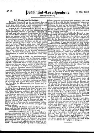 Provinzial-Correspondenz vom 08.03.1882