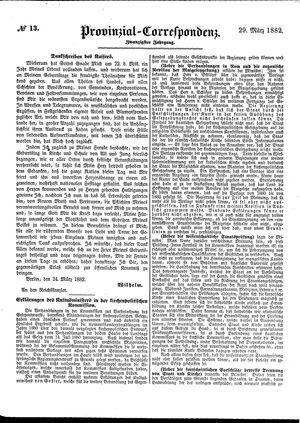 Provinzial-Correspondenz vom 29.03.1882