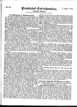 Provinzial-Correspondenz vom 05.04.1882