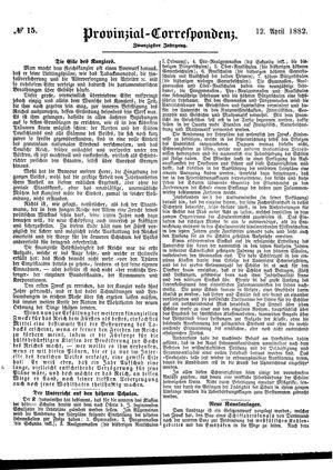 Provinzial-Correspondenz vom 12.04.1882