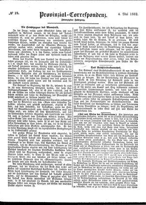 Provinzial-Correspondenz vom 04.05.1882