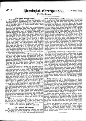 Provinzial-Correspondenz vom 10.05.1882