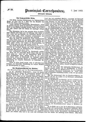 Provinzial-Correspondenz vom 07.06.1882