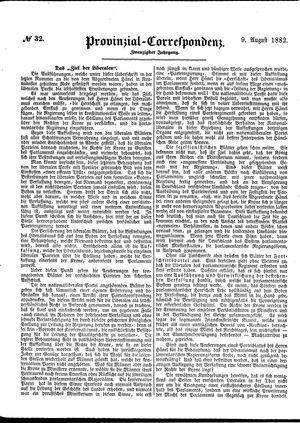 Provinzial-Correspondenz vom 09.08.1882
