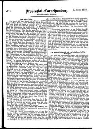 Provinzial-Correspondenz vom 05.01.1883