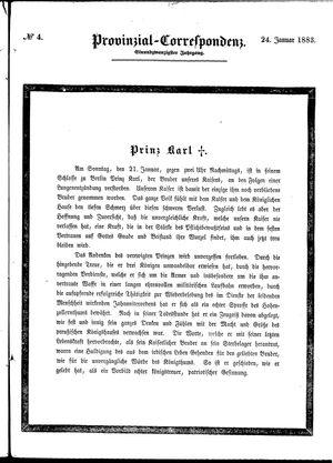 Provinzial-Correspondenz vom 24.01.1883