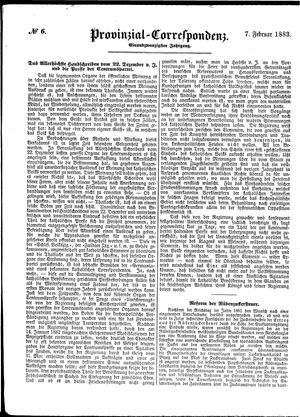 Provinzial-Correspondenz vom 07.02.1883