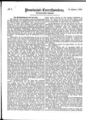 Provinzial-Correspondenz vom 14.02.1883