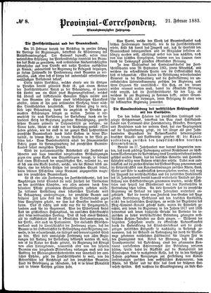 Provinzial-Correspondenz vom 21.02.1883