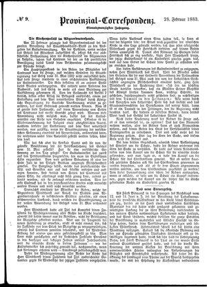 Provinzial-Correspondenz vom 28.02.1883