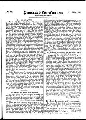 Provinzial-Correspondenz vom 21.03.1883