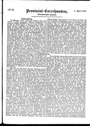 Provinzial-Correspondenz vom 04.04.1883