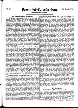 Provinzial-Correspondenz vom 11.04.1883