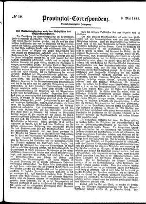 Provinzial-Correspondenz vom 09.05.1883
