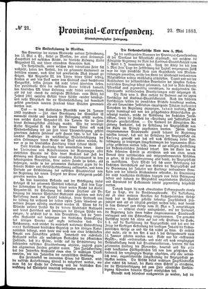 Provinzial-Correspondenz vom 23.05.1883