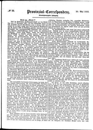 Provinzial-Correspondenz vom 30.05.1883