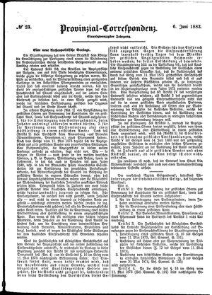 Provinzial-Correspondenz vom 06.06.1883
