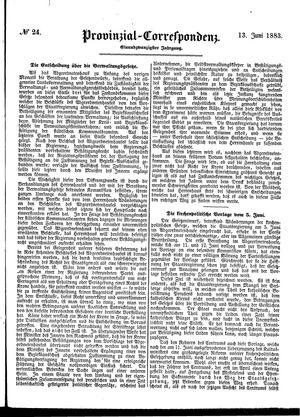 Provinzial-Correspondenz on Jun 13, 1883