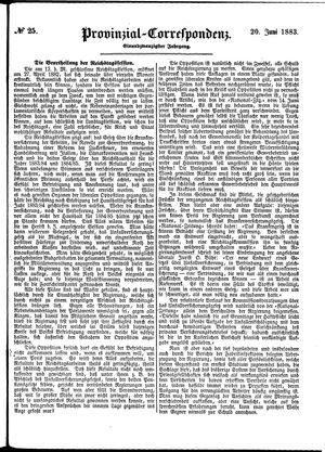 Provinzial-Correspondenz vom 20.06.1883