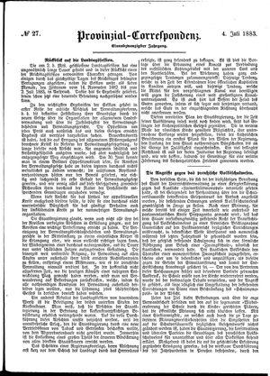 Provinzial-Correspondenz vom 04.07.1883