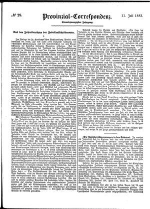 Provinzial-Correspondenz vom 11.07.1883