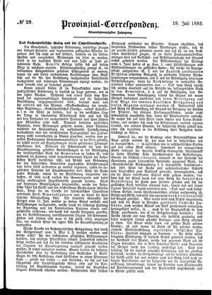 Provinzial-Correspondenz vom 18.07.1883