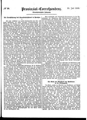Provinzial-Correspondenz vom 25.07.1883