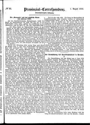 Provinzial-Correspondenz vom 01.08.1883