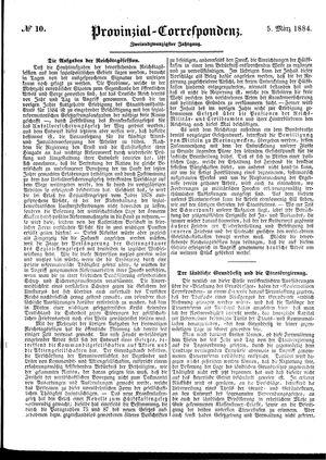 Provinzial-Correspondenz vom 05.03.1884