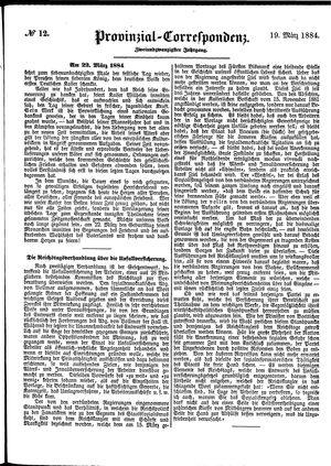 Provinzial-Correspondenz vom 19.03.1884