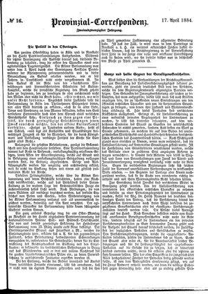Provinzial-Correspondenz vom 17.04.1884