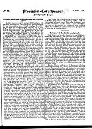 Provinzial-Correspondenz vom 08.05.1884