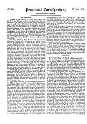 Provinzial-Correspondenz vom 25.06.1884